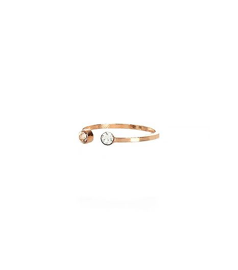 River Island  Rose Gold Plated Rhinestone Ring