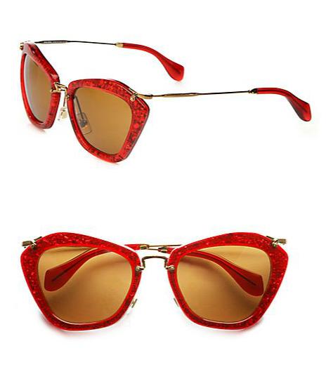 Miu Miu Noir Catwalk Cat-Eye Sunglasses