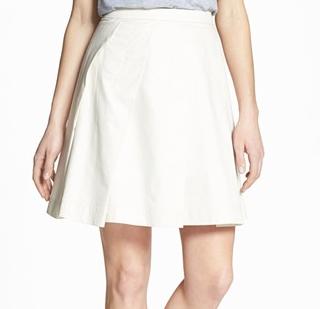 Theory Sarise Pleat Full Skirt