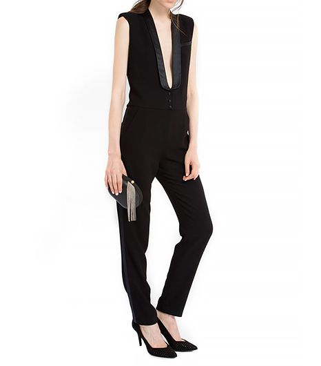 We're all for plunging necklines, just don't forget the double-stick tape!