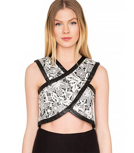 Pixie Market Martha Lace Crop Top