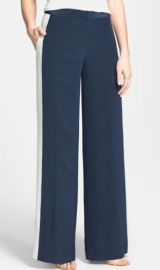 Diane Von Furstenberg  Salma Wide Let Silk Pants