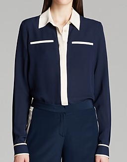 Diane Von Furstenberg  Trudy Silk Blouse