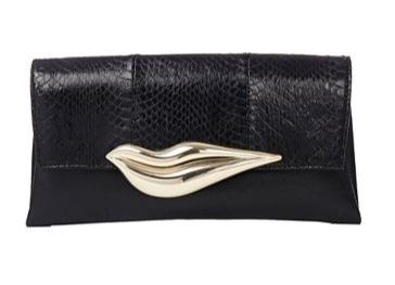 Diane Von Furstenberg  Flirty Envelope Snake Clutch