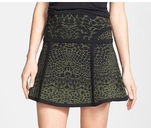 Diane Von Furstenberg  Flote Print A-Line Skirt