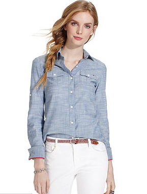 Tommy Hilfiger  Long Sleeve Chambray Shirt