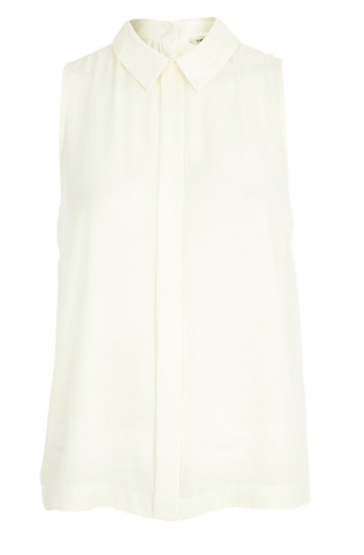 River Island White Sleeveless Blouse