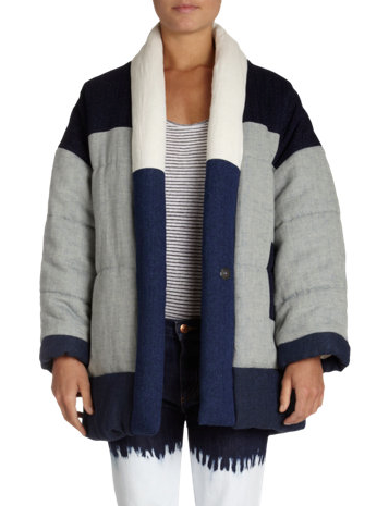 Isabel Marant Etoile  Dempster Quilted Patchwork Jacket