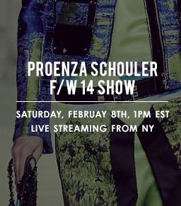 Watch the Proenza Schouler Fall 2014 Runway Show Live