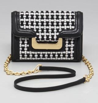 Diane von Furstenberg Harper Charlie Check Shoulder Bag