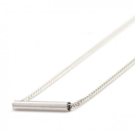 Gabriela Artigas  Gabriela Artigas Silver Cylinder Necklace