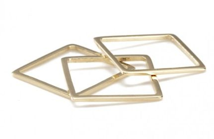 Gabriela Artigas  Gabriela Artigas Yellow Thin Square Rings