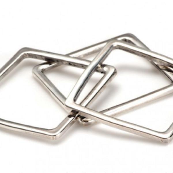 Gabriela Artigas  Gabriela Artigas Sterling Silver Thin Square Rings