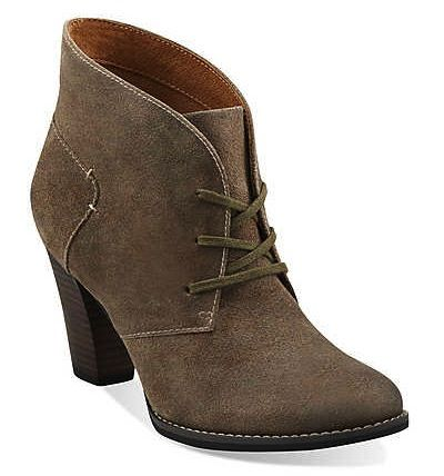 Clarks  Clarks Heath Wren Booties in Taupe Distressed