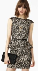 Nasty Gal Nasty Gal Black Bloom Peplum Dress