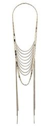Topshop Topshop Metal Track Multirow Necklace