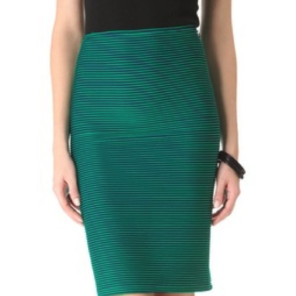 Opening Ceremony Green Pencil Skirt