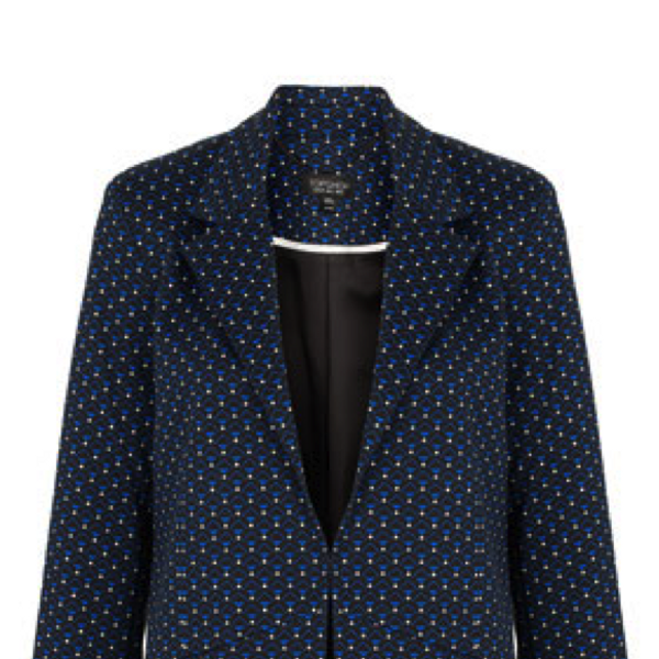 Top Shop Geometric Motif Blazer