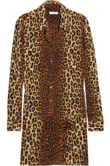 Equipment Equipment Lucido Leopard-Print Brushed-Silk Shirt Dress