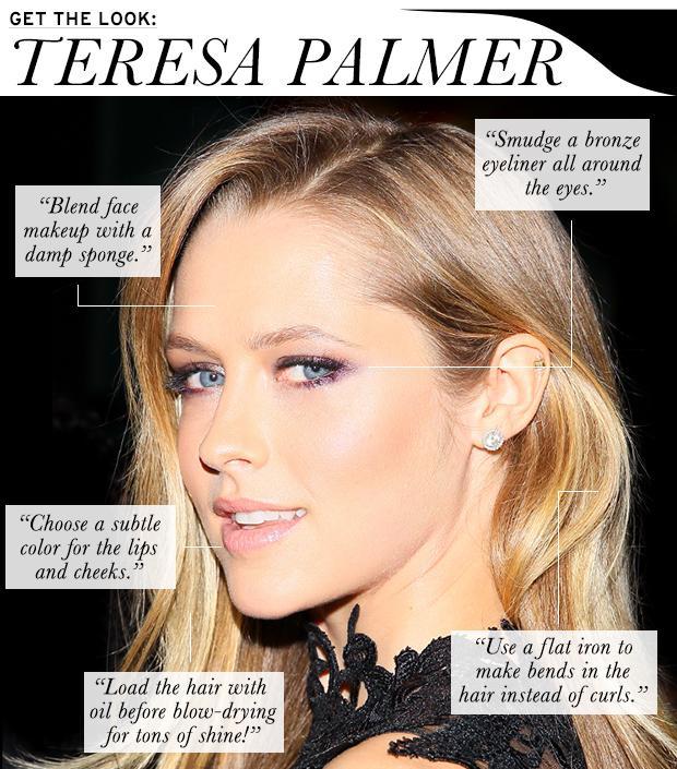 Teresa Palmer's Beauty Look