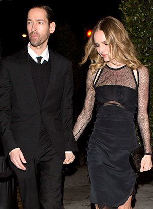 The star couples with serious style.