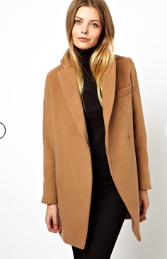 ASOS Petite Exclusive Coat With Contrast Collar
