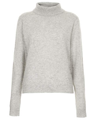 Topshop Knitted Cashmere Polo Jumper