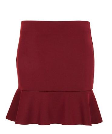 Topshop Ruffled Miniskirt