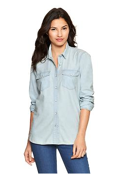 Gap 1969 Chambray Boyfriend Shirt