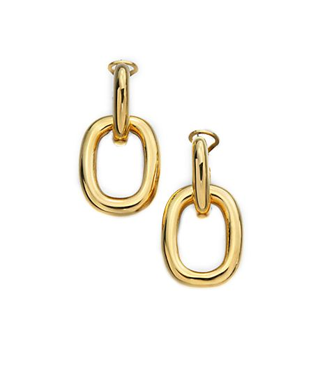 Kenneth Jay Lane Polished Doorknocker Earrings
