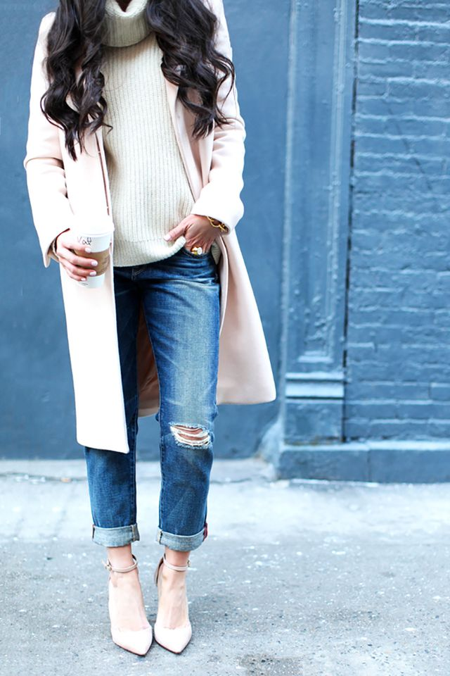 Day 25: Dress up a pair of distressed jeans.