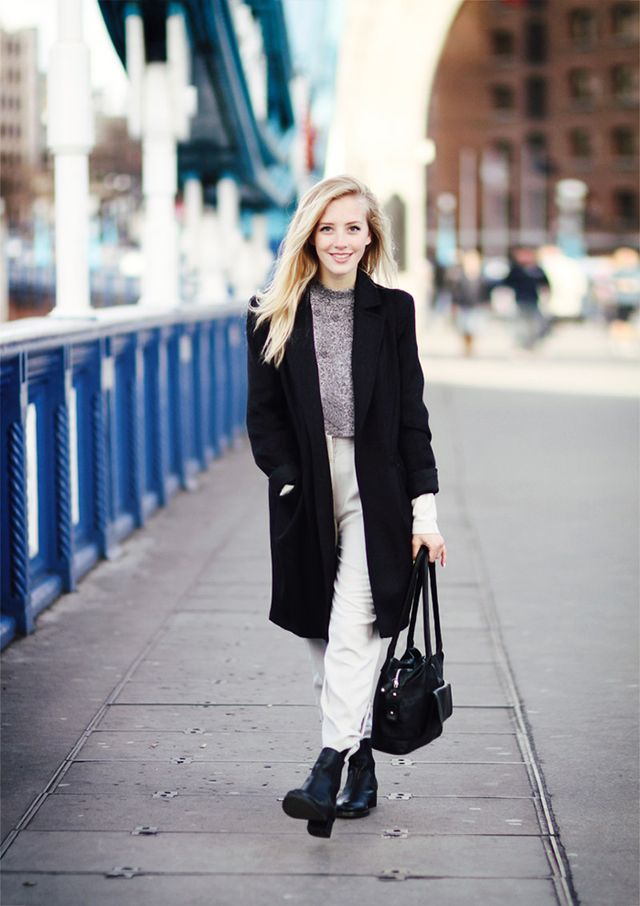 Day 27: Try a sleek and slouchy look.