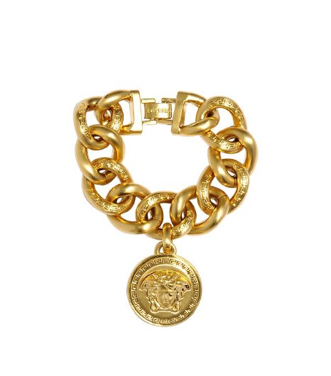 Versace Medusa Gold Plated Metal Chain Bracelet