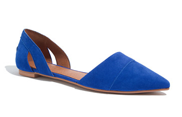 Madewell The D'Orsay Flats in Suede