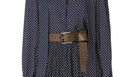 Michael Kors Leather Flip-Tie Belt