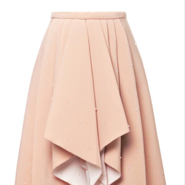 Rodarate 3D Bead-Embellished Foam Skirt