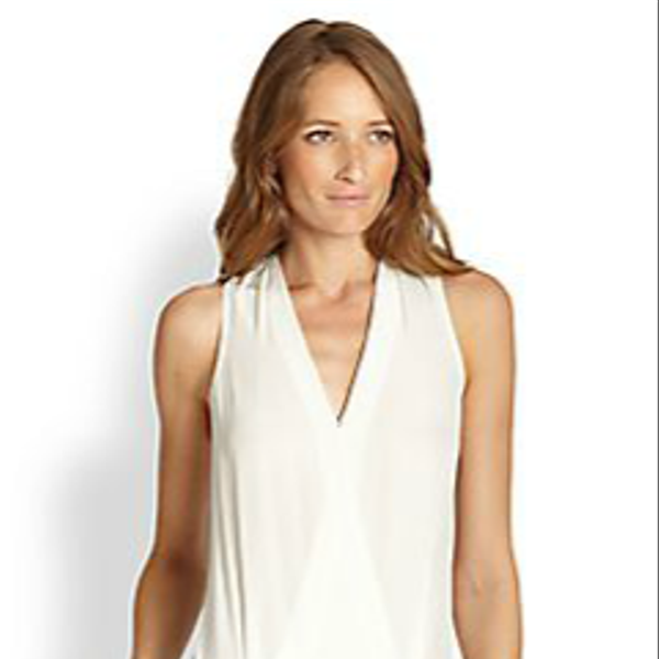 Tibi Two-Tone Crossover-Front Jumpsuit