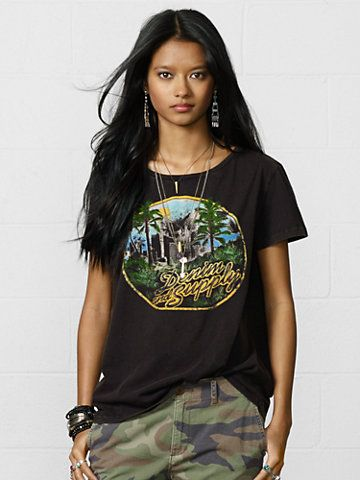 Denim & Supply LA Palms Draped Tee