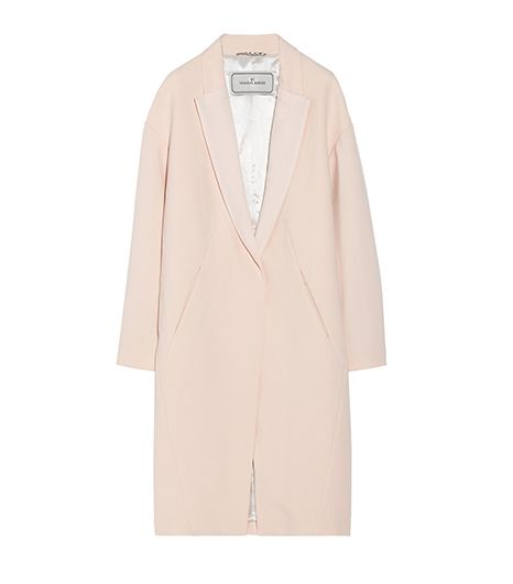 Malene Birger Fiurica Oversized Satin-Trimmed Pique Coat