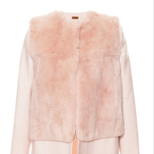 Katie Ermilio Fur Bodice Top Coat