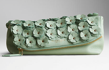 Burberry Prorsum The Petal in Deerskin with Flowers Clutch
