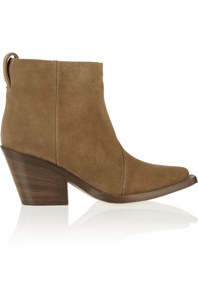 Acne Donna Suede Ankle Boots