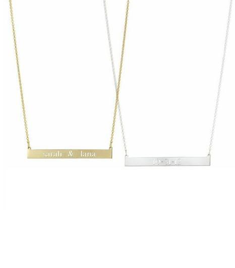 Sarah Chloe Leigh Bar Necklace