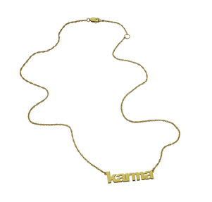 Jennifer Zeuner Jewelry Lowercase Block Nameplate Necklace