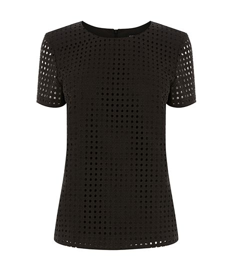 Oasis Broderie Squares T-Shirt