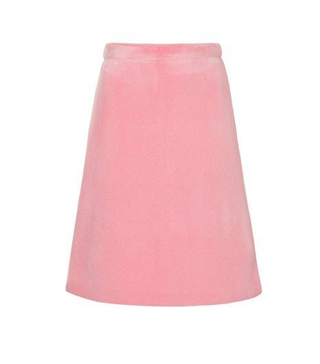 Topshop Pink Bonded 3D Felt Skirt