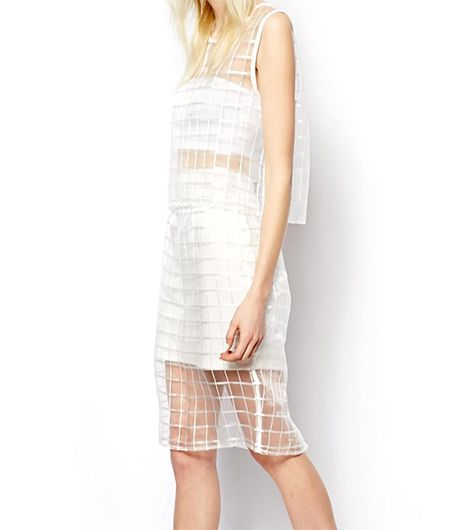 Asos State Of Being Organza Pencil Skirt