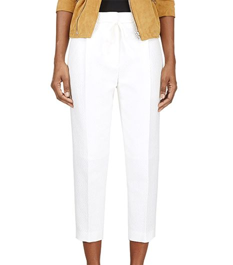 Phillip Lim Textured Cropped Trousers