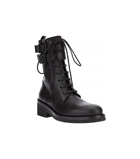 Ann Demeulemeester Blanche Buckled Military Boots