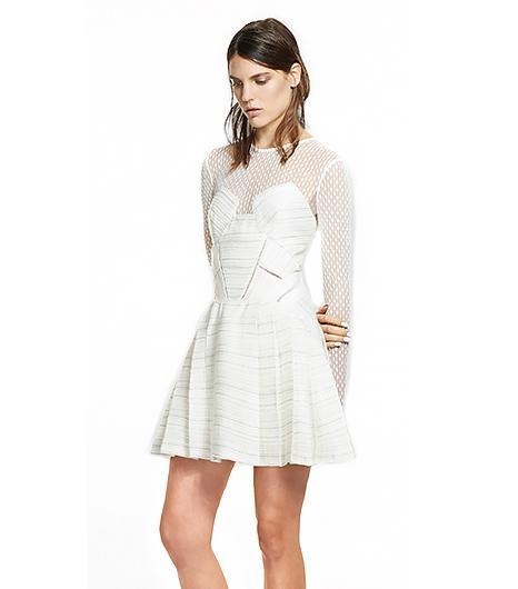 Self Portrait Paneled Long Sleeve Dress